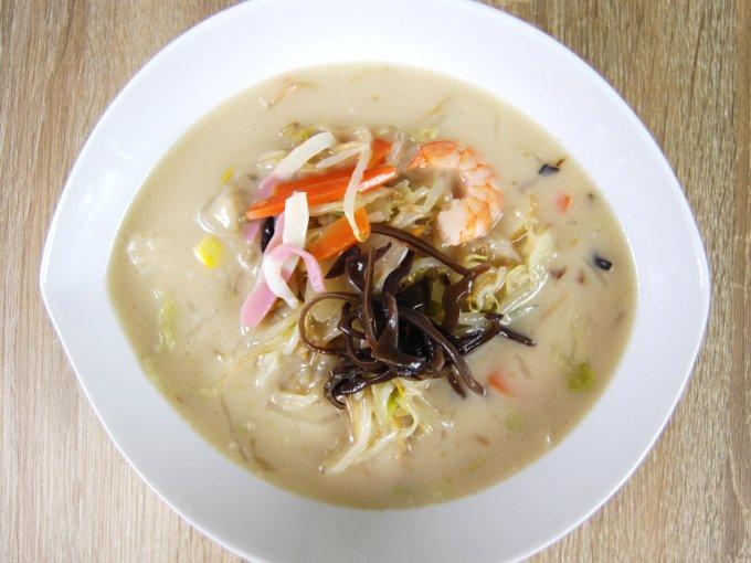 お皿に移した「ちゃんぽんスープ」の画像