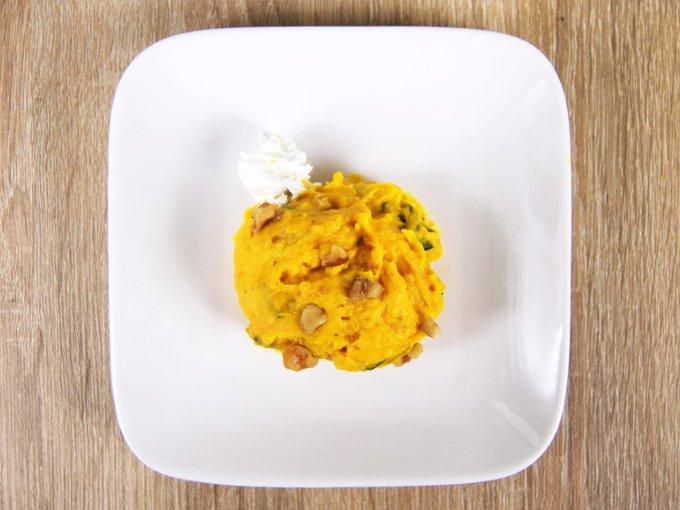 皿に移した「スイートパンプキンサラダ」の画像