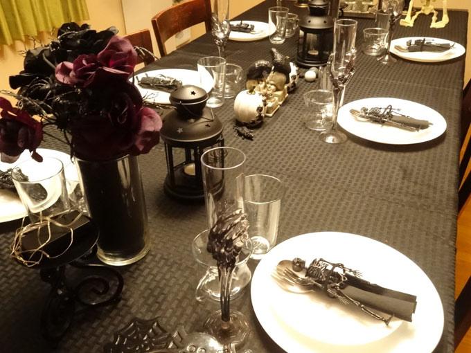 テーブルコーディネートもハロウィンで盛り上げます
