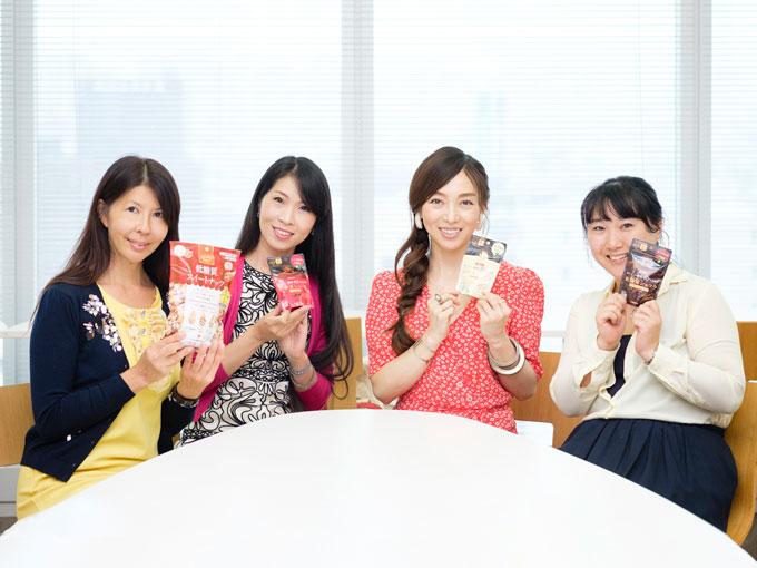 座談会中のおためし部と和田先生の集合写真
