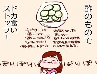 【漫画レポート】酢のもの&「ダイエット予告まんだら」を活用して-12kgやせ!