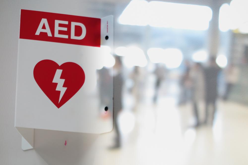 AEDを示す看板の画像