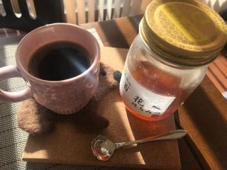 はちみつとブラックコーヒー