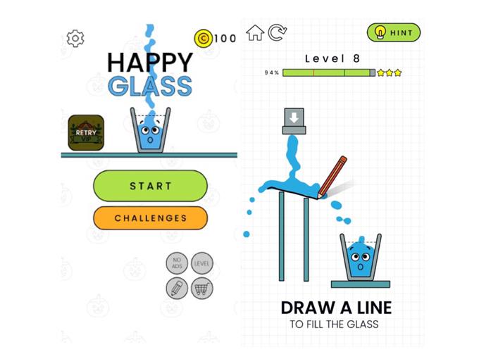 「Happy Glass」が表示された画像