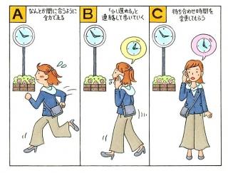 【心理テスト】待ち合わせに遅刻しそう!あなたはどうする?