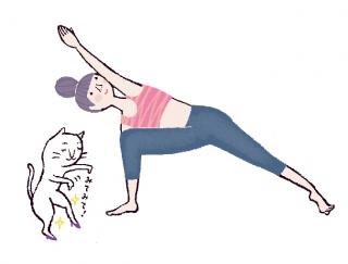 見せたくなる美脚を手に入れる♡「体側を伸ばすポーズ」 #今日のねこヨガ