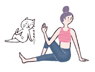 キュっとくびれたウエストへ♡体にメリハリを作る「ねじりのポーズ」 #今日のねこヨガ