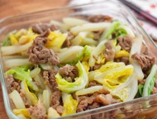白菜大量消費!! 「牛こまと白菜のオイスターソース炒め」#今週の作り置き