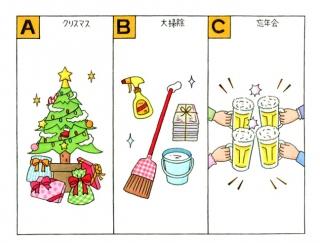 【心理テスト】12月のイベント、あなたが一番意識しているのは何?
