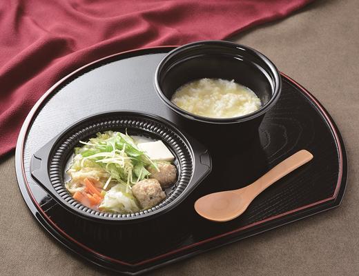 公式サイトで掲載された「鍋から〆まで楽シメる! 鶏つくねの鶏だし生姜鍋(玉子雑炊)」の画像