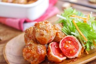 トマトの肉巻きできあがり