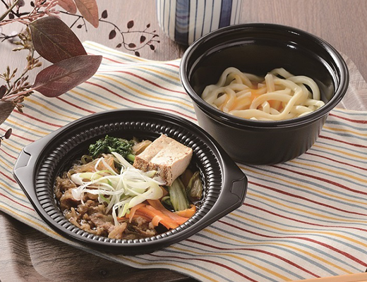 公式サイトで掲載された「鍋から〆まで楽シメる! 牛すき鍋(うどん)」の画像