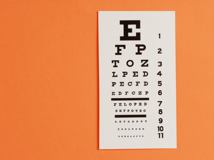 視力検査のポスター