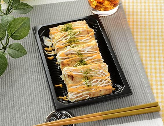 公式サイトに掲載された「チーズお好み焼」の画像