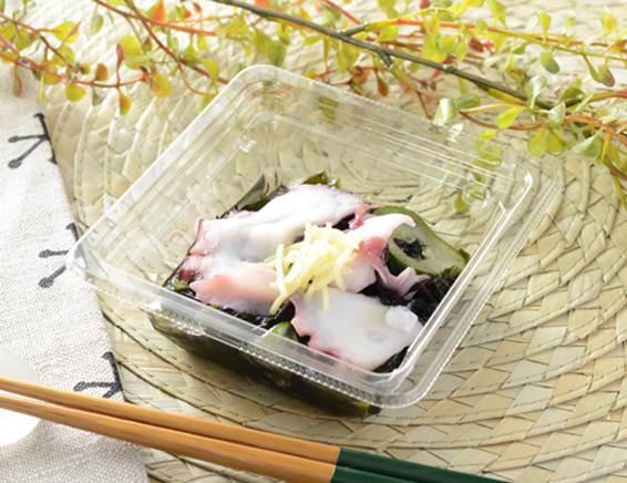 公式サイトで掲載された「たこと海藻のさっぱり和サラダ」の画像