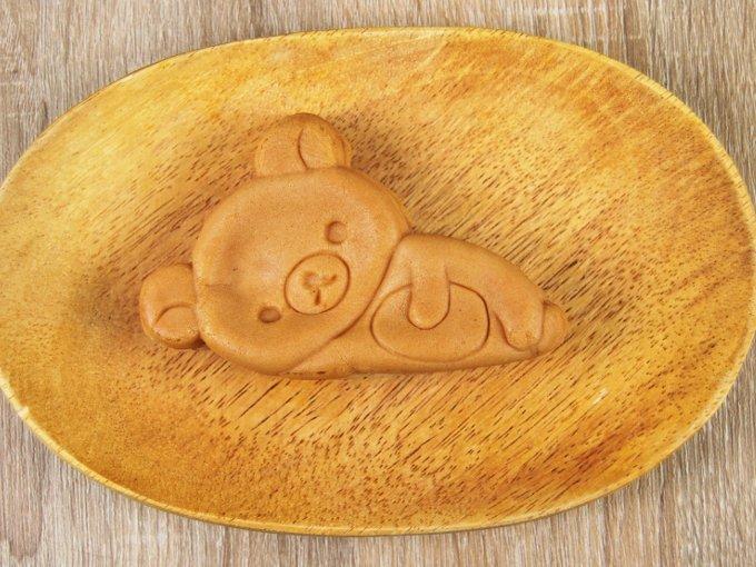 お皿に移した「もちもちリラックマ焼き」の画像