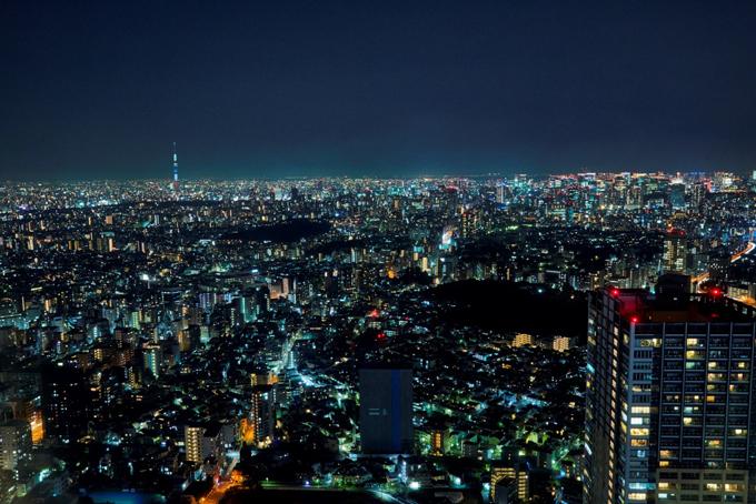 サンシャインシティ展望台から見た夜景