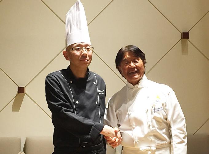坂井シェフと懐石料理の職人さんのコラボ
