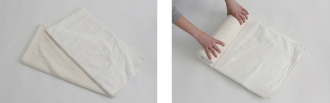 骨盤枕を作る画像