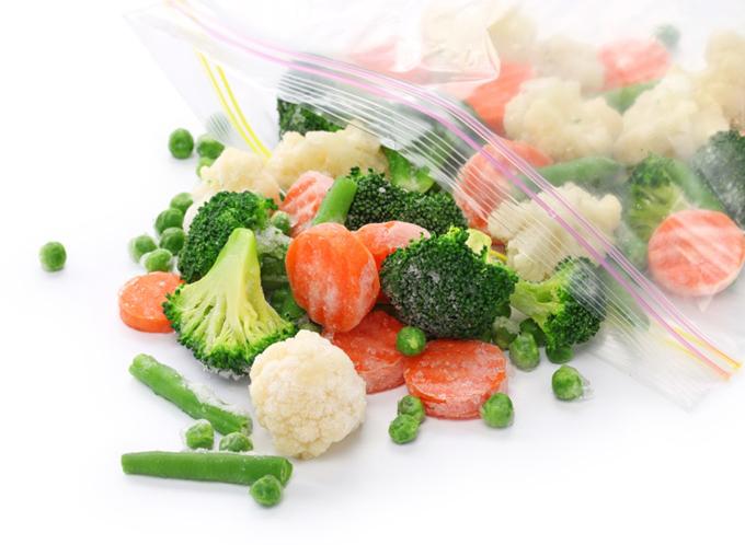袋に入った冷凍野菜