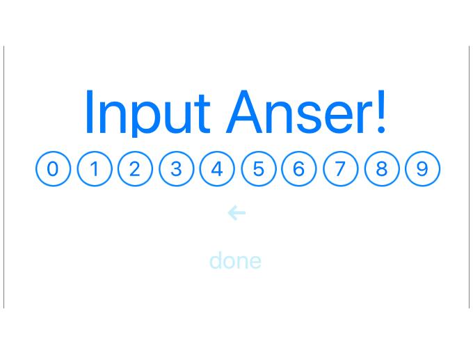「Input Anser!」が表示されている画面の画像