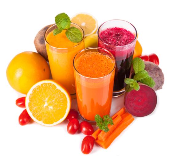 野菜とフルーツのジュース