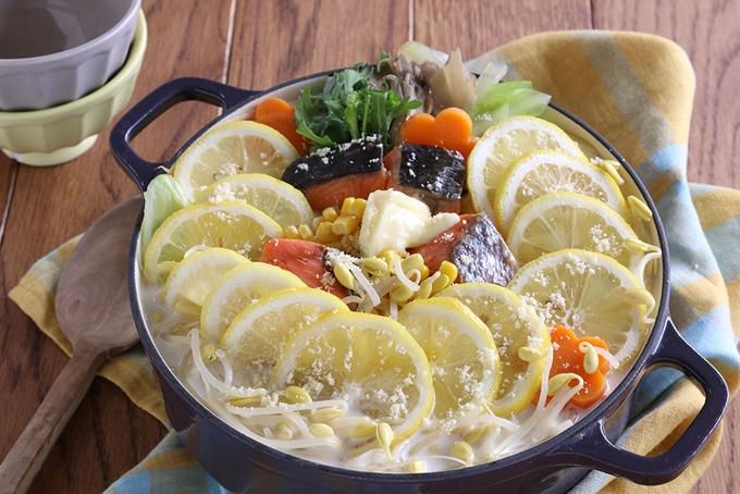 もやしレモン粉雪ミルク鍋の完成イメージ