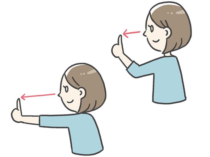 指スライドの説明イラスト