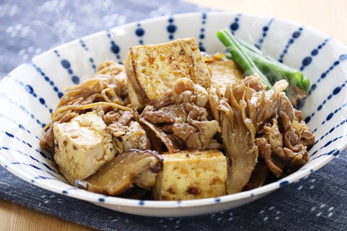 豚ときのこの肉豆腐の完成イメージ