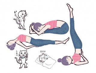 快眠には「夜ヨガ」が効果あり♡睡眠の質を高めるポーズ3選 #今日のねこヨガ