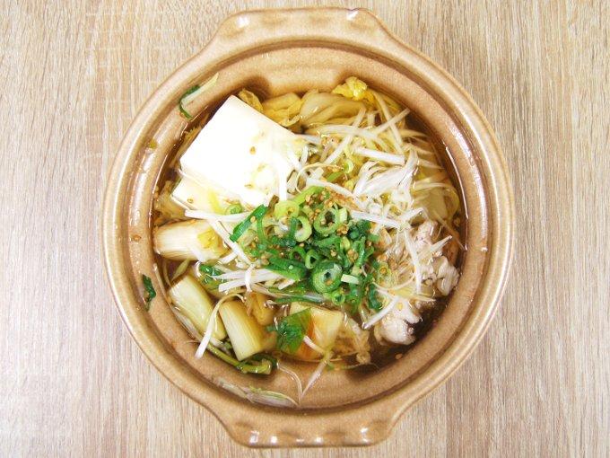 容器のふたを外した「1/2日分の野菜! ねぎ鍋(そばつゆ仕立て)」の画像