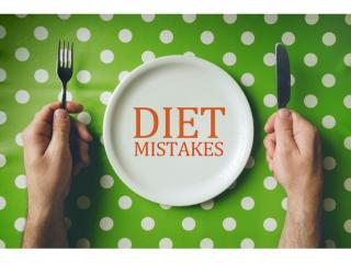 間違ったダイエット法と書かれたお皿