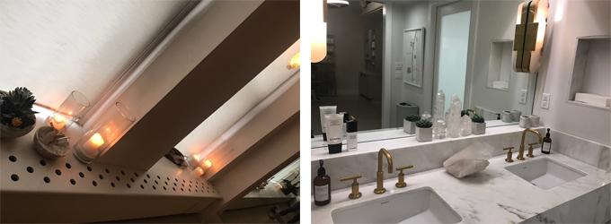 右 <ALT>cスタジオ2:「キャンドルのほのかな灯りに癒されます」 左<ALT>cスタジオ5:「バスルームも清潔感があって◎」