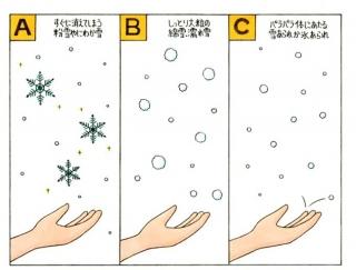 【心理テスト】空から雪がふってきました。それはどんな雪?