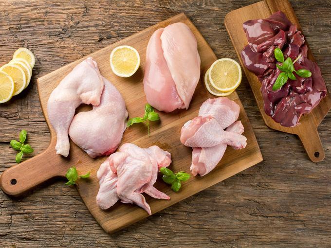 鶏肉の部位別画像