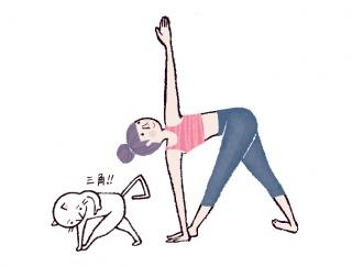 腹筋に効かせてお腹をグッと引き締める「三角ねじりのポーズ」 #今日のねこヨガ