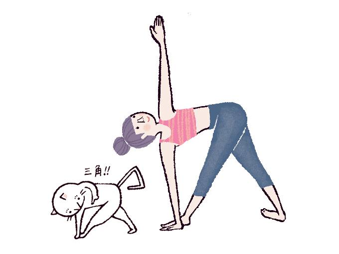 三角ねじりのポーズ