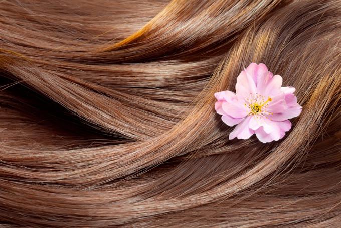 サラサラの髪とお花