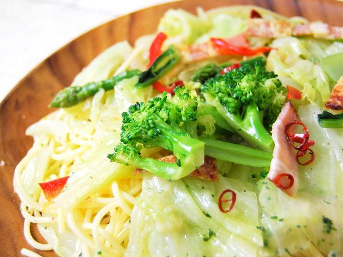 「1/2日分の野菜ペペロンチーノ」のアップ画像