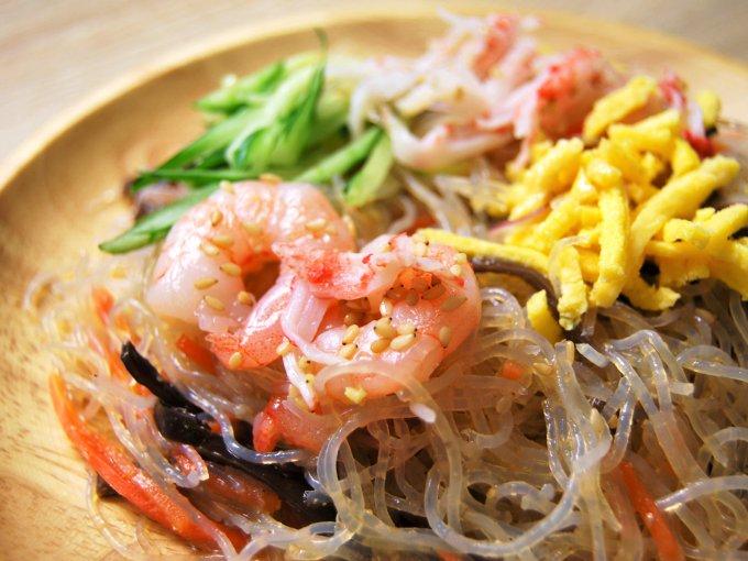 「5種具材の中華風春雨サラダ」のアップ画像