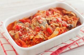サバ缶ときのこのトマト煮できあがり