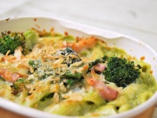 「緑野菜のベジグラタンほうれん草ブロッコリー」のアップ画像