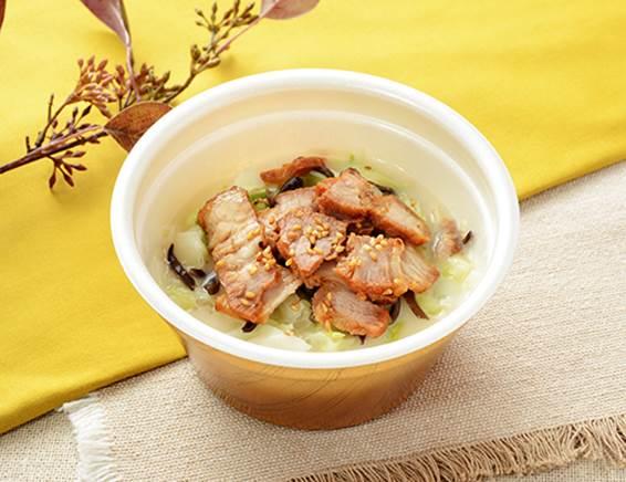公式サイトで掲載された「とんこつ春雨スープ」の画像