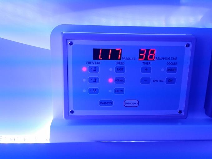 水素浴カプセルの中の様子1