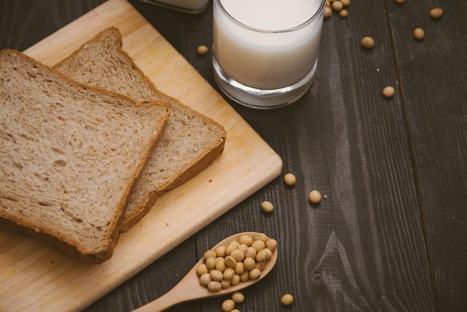 パンと豆乳の朝食