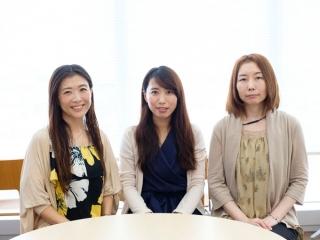 <腸活部員3名> 左から順に、桃井さん、西尾さん、ムラカミさん