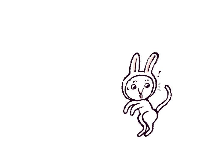 うさぎのポーズイラスト(ねこ)