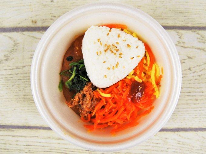ふたを外した「ユッケジャン風スープ」の画像