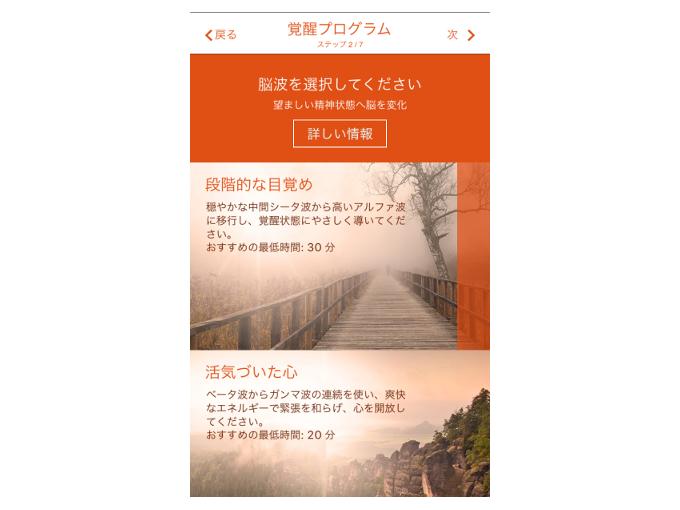 「覚醒プログラム」のステップ2を表示した画像