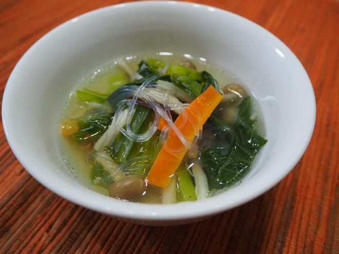 野菜たっぷりスープ春雨